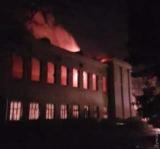 В Одессе горел будущий штаб ВМС Украины
